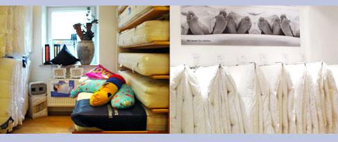 Bettwaren und Bettwäsche im Schlafstudio