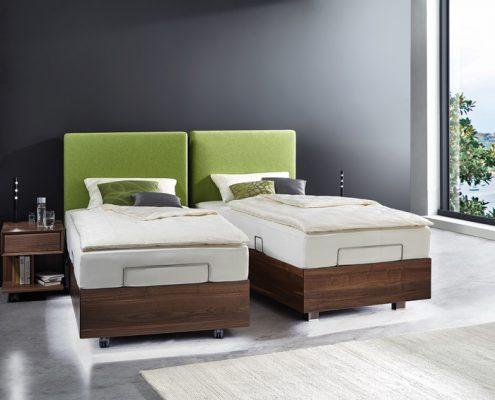doppel oder einzelbett hoehenverstellbar