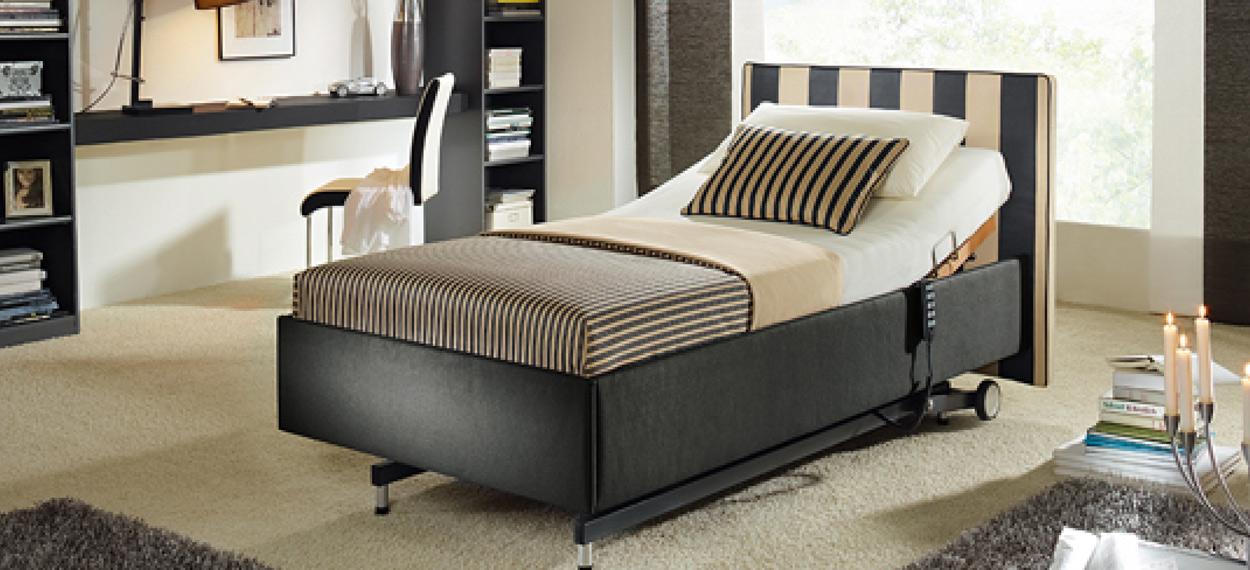 hoehenverstellbares Bettgestell für angenehmes sitzen im Bett