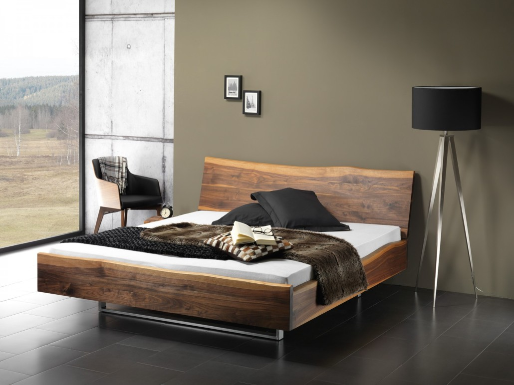 designer bett holz. Black Bedroom Furniture Sets. Home Design Ideas