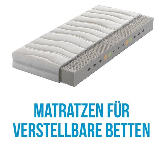 Matratzen die für Seniorenbetten und höhenverstellbare Betten geeignet sind