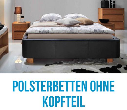 Stoffbetten und Polsterbetten ohne Kopfteil als Bettrahmen Bettenhaus Berner