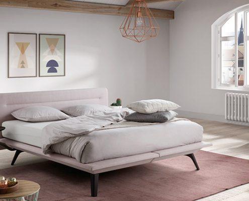 rosa polsterbett von velda in 180x200 cm