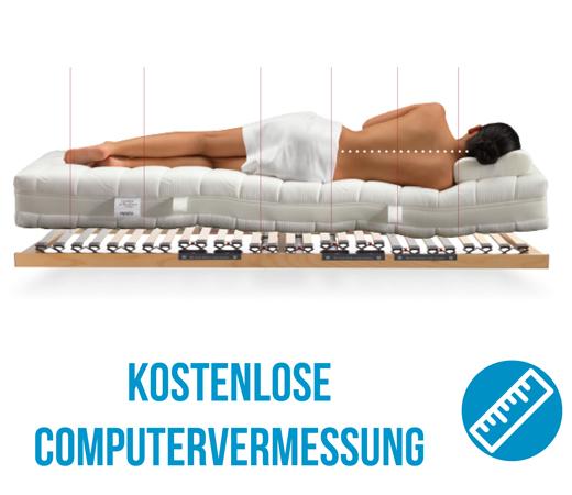 kostenlose Computervermessung und schlafanalysefuer neue Matratzen