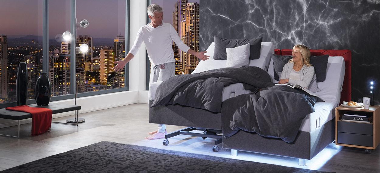höhenverstellbare Bettgestelle für angenehmes sitzen im Bett